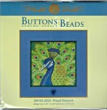 Proud Peacock Buttons & Beads Spring Series Mill Hill Cross Stitch