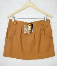 New Roxy Womens Skirt 12 Mini Short Button Pocket Hippie Party Summer Beach C237