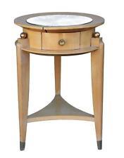 table de chevet en sycomore et bronze doré forme somno 1940