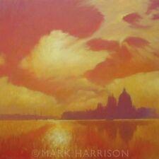 "BELLISSIMO ORIGINALE Mark Harrison ""DORSODURO"" CANAL GRANDE VENEZIA ITALY painting"