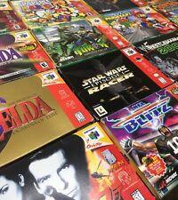 Nintendo 64 N64 Original Boxes + Manuals + Inserts *Authentic* *No Games*