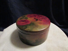 Vintage Trinket box Wooden with painted Rose