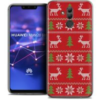 "Coque Gel Pour Huawei Mate 20 Lite (6.3"") Souple Noël 2017 Couture Rouge"