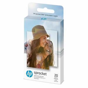 "HP sprocket ZINK STICKY-BACKET PHOTO PAPER 20-Sheets 2 x 3"" 1AH01A PHOTO PRINTER"