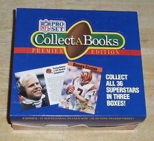 "1990 PRO SET ""COLLECT-A-BOOKS"" PREMIER EDITION FOOTBALL CASE W/ 24 BOXES"