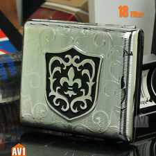 Cigarette case pure copper with Plating finishing. Quality classic metal gift.