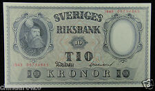 Sweden BANKNOTE 10 Kronor 1950 UNC