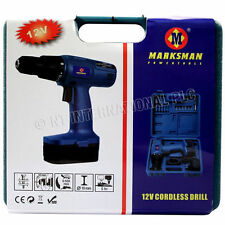 3PC SET 12V CORDLESS DRILL DRIVER POWER SCREW HEAVY DUTY BLOW CASE WITH CHARGER
