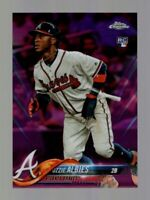 2018 TOPPS CHROME OZZIE ALBIES RC PINK REFRACTOR BRAVES #72