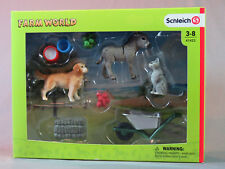 Schleich Farm Animal Feed SET Scenery Pack donkey golden cat accessories 41423