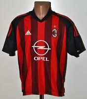 AC MILAN ITALY 2002/2003 HOME FOOTBALL SHIRT JERSEY ADIDAS SIZE M ADULT
