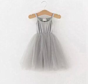 Baby Ballerina Tutu Dress Grey Age 12-18 Months