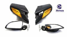 Mutazu Black Mirrors Assembly for Honda ST 1300 ST1300 2002-2011, Sold in a pair