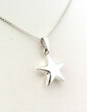 Funky 925 Sterling Silver Small Puffed Star Pendant Without a Chain 33700