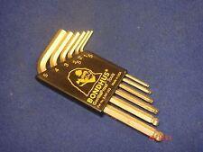 Bondhus Gold Guard Ballpoint Hex Hexagon Allen Key Set Metric USA 1.5mm 3mm 5mm