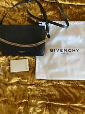 Givenchy Cross3 Black Leather Suede Crossbody Bag Retails $1190