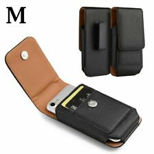 Samsung Galaxy S10e - Black Vertical Leather Pouch Belt Clip Holster Case Cover