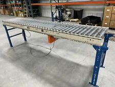 New ListingRoller Conveyor Powered by XenoRol, 4 x 10 ft section with feet and one motor.