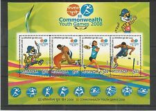 INDIA 2008 3RD C/WEALTH YOUTH GAMES MINISHEET SG,MS2513 UM/M NH LOT 2926A