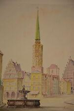 Neisse acquerello pastello superiore Slesia Polonia Nysa Opole Slesia powiat nyski