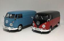 VOLKSWAGEN TYPE 2 T1 VAN BUNDLE X 2 LOOSE 1:24 Scale model toy diecast car