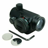 Tactical Weatherproof Adjustable 5 MOA Green Red Dot Sight Scope for 20mm Rails