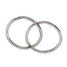 9ct White Gold 12mm Hinged Hoop Sleeper Earrings Made in UK