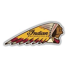 indian motorcycles sticker motorcycle retro 130mm x 50mm