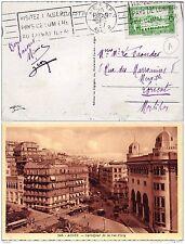 Flamme Postale Alger 1937 Visitez L'Algérie Pays de Lumière au Climat Idéal