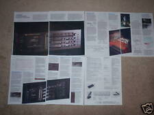 Nakamichi Dragon Brochure, 7 pgs, Specs, Articles, Info, Excellent!