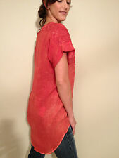 GOLD HAWK  Monet Tie Dye Lace Top, Red, NWT, Size S.  $195