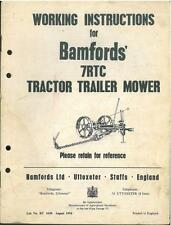Bamford 7RTC Tractor Trailer Mower Operators Manual