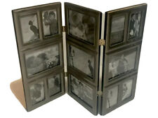 PICTURE FRAME | 3 Panel Brushed Metal Photo Screen For Table Top | NEW W/Box