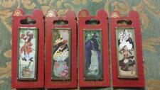 Disney Haunted Mansion Stretch Portrait Pin Set Maleficent Cruella Hook Queen