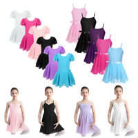 Toddler Girl Kid Gymnastics Ballet Dance Dress Tutu Skirts Leotard Set Dancewear