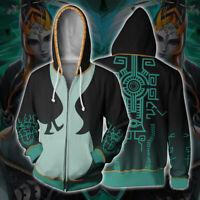 The Legend of Zelda Hoodie 3D Print Sweatshirt Coat Cosplay Jacket Casual Top