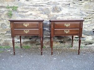 Pair of Mahogany Style Ethan Allen Bedside Chests