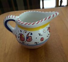 Deruta Italy Red Rooster Creamer 2 7/8 inches Tall