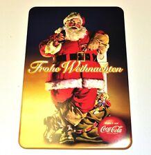 Coca-Cola Coca Cola Burger King Metallo Cartolina - Post Card - Santa con Sacco