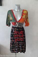 bonito vestido multicolor en viscosa DESIGUAL talla XS excelente estado