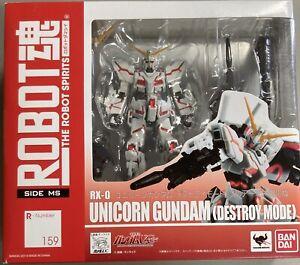 Bandai Robot Spirits Damashii Mobile Unicorn Gundam Destroy NT-D Action Figure
