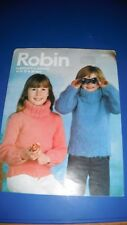 Robin Child's Sweaters Knitting Pattern 2884