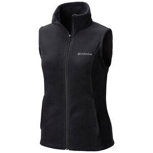 """New Womens Columbia """"Benton Springs"""" Full Zip Fleece Vest XS-S-M-L-XL"""