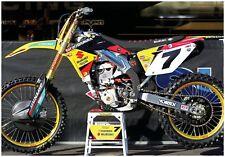 JAMES STEWART SUZUKI RMZ450 SUPERCROSS RACE BIKE GIANT POSTER FOLDED motocross
