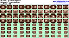DB-Zeichen Purpurrot RAL 3004, DB - NEU Siebdruck Kreye Decals, 120-2350