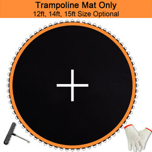 Trampoline Replacement Mat FITS 12ft/ 14ft /15ft Frame, 5.5in/ 6.5in Spring