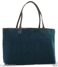 Large Teal Blue Fuzzy Faux Fur Tote Bag Handbag Lined Shopper Serious Skin Care