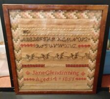 7053-1851 sampler by Jane Glendinning - 14 years old -
