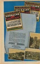 "ADVERT "" Mini Poster "" Vineyard Wine Label Jacques Bourdouil Grenache Muscat"