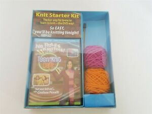 Knit Starter Kit Teen with DVD, Needles and Yarn